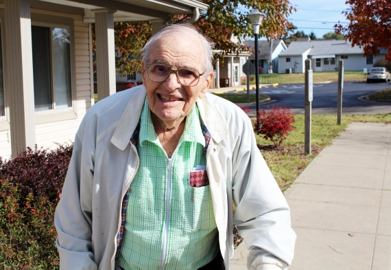 Earl Todt, a World War II veteran at National Church Residences Bristol Village, hauled everything from ammunition to doughnuts and Red Cross girls across Europe.