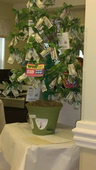 "The ""money tree"" that was a retirement present."